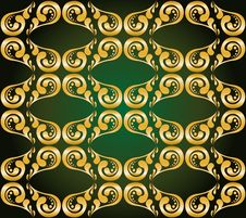 Free Gilded Ornament On Green Stock Image - 26620711