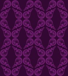 Purple  Ornament Stock Image