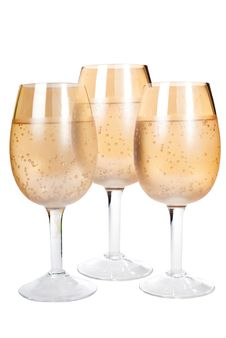 Free Three Glasses On The Isolated Royalty Free Stock Photo - 26623135