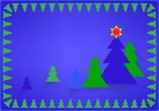 Free Card With Christmas Tree Royalty Free Stock Image - 26624696