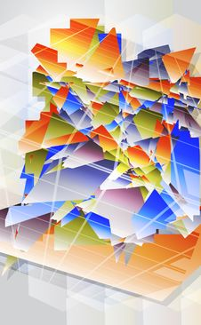 Free Abstract Futuristic Background. Royalty Free Stock Photography - 26626477