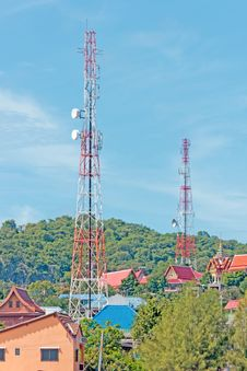 Free Telecommunication, Boardcasting Tower Royalty Free Stock Photos - 26628018