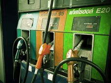Free Gas Pump Vintage Picture Royalty Free Stock Photos - 26629478