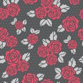 Free Seamless  Background With Roses Stock Photography - 26635802