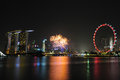 Free Singapore National Day 2012 Fireworks Royalty Free Stock Images - 26637439