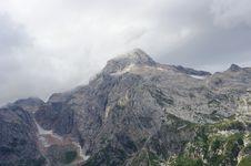 Mountain Peak Fisht And Glaciers Royalty Free Stock Photo