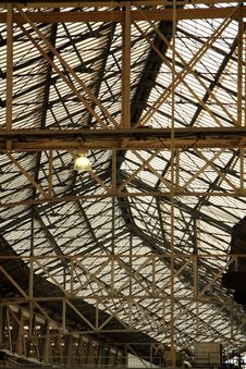 Free Industrial Glass Roof Stock Photography - 26630482