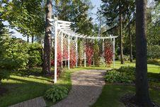 Pergola Garden Stock Photography