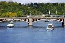 Vltava River In Prague, Czech Republic Royalty Free Stock Image