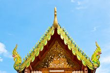 Free Roof Temple Buddha In Thailand Stock Photography - 26633572