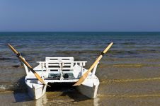 Boat On The Sand Royalty Free Stock Image