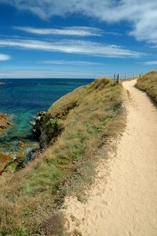 Free The Path On Seacoast, Quiberon, France Royalty Free Stock Photography - 26635447