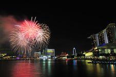 Free Singapore National Day 2012 Fireworks Stock Photos - 26636963