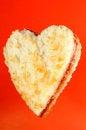 Free Heart Shaped Jam Sandwich Stock Image - 26643091