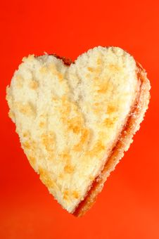 Free Heart Shaped Jam Sandwich Stock Image - 26643091