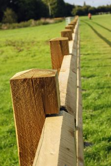 Free Long Wooden Fence. Stock Photos - 26649423