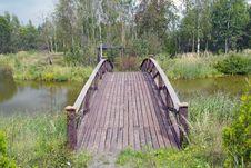 Free Wooden Bridge 2 Royalty Free Stock Photo - 26650465