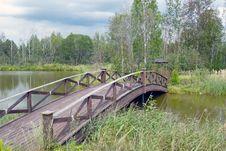 Free Wooden Bridge 1 Stock Image - 26650631