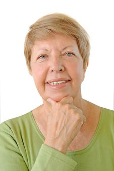 Free Portrait Of Elderly Woman Stock Images - 26652544