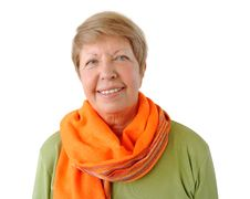Free Portrait Of Elderly Woman With Orange Cravat Royalty Free Stock Image - 26652626