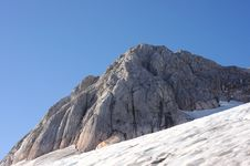 Mountain Peak Fisht And Glacier On His Slope Royalty Free Stock Photos