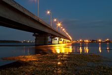 Free Bridge At Night Royalty Free Stock Photos - 26653398