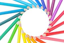 Free Frame From Color Pencils Isolated Stock Image - 26658261