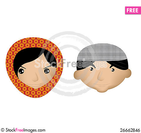 Free Muslim Boy And Girl Royalty Free Stock Image - 26662846