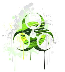 Free Symbol Of Biological Danger Drawn With Paint Royalty Free Stock Photography - 26662107