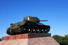 Free Old Soviet Tank Royalty Free Stock Photos - 26663398