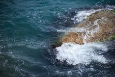 Stone In The Sea Royalty Free Stock Photography