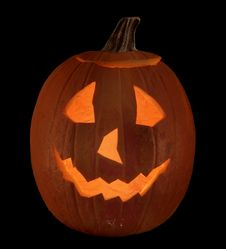 Free Jack-O-Lantern Isolated Stock Image - 26667641