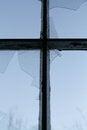 Free Cross And Broken Window Royalty Free Stock Image - 26676526