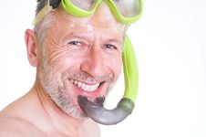 Free Smile Of A Skin Diver Royalty Free Stock Photography - 26670017
