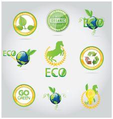 Abstract Nature Symbols And Emblems Set Stock Photo