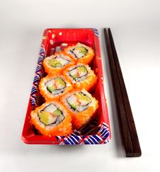Delicious Japanese Food &x28;California Maki&x29; Stock Photos
