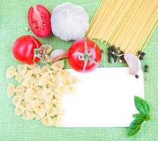 Free Recipe Card With Ingredients Royalty Free Stock Photo - 26675165