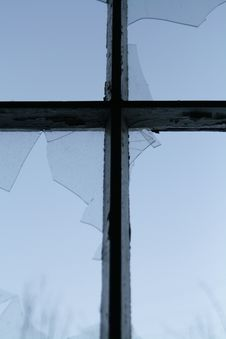 Free Cross And Broken Window Royalty Free Stock Image - 26676526