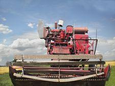 Free Vintage Crop Harvesting Combine. Stock Image - 26677431