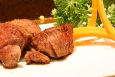 Free Cooked Cubic Beef Steak Stock Photography - 26679442