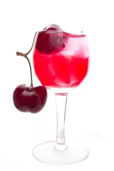 Free Cherry Drink Royalty Free Stock Photos - 26679938