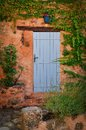 Free Colorful Door And Wall With Flowers Royalty Free Stock Images - 26680469