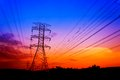 Free Silhouette Electricity Pylons Royalty Free Stock Image - 26686906