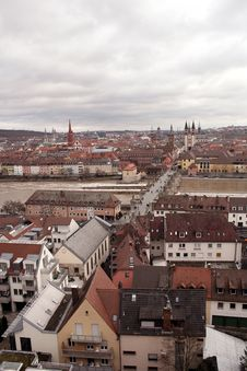 Free VIEW ON WUERZBURG AND OLD MAIN BRIDGE Stock Photography - 26680092
