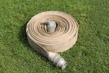 Free Coiled Fire Hose. Stock Images - 26681954