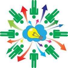 Symbolized Brainstorming Stock Photo