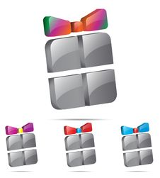 3d Gift Icon Royalty Free Stock Images