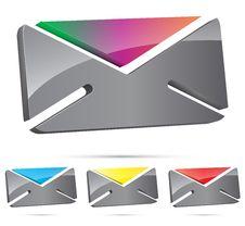 Free 3d Envelope Icon Royalty Free Stock Photos - 26683368
