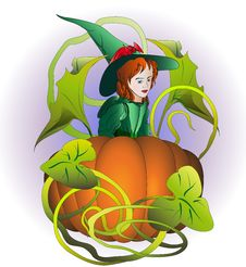Free Little Witch Stock Photography - 26683372