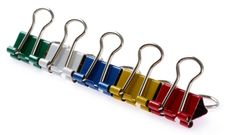 Free Colored Binder Clips Stock Image - 26687271